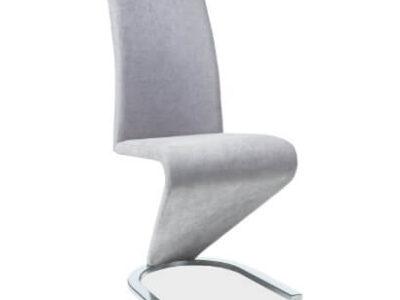 Scaun textil H-090 gri