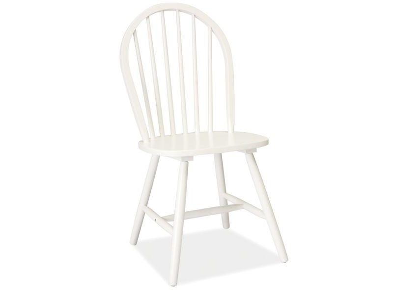 Scaun din lemn alb Fiero