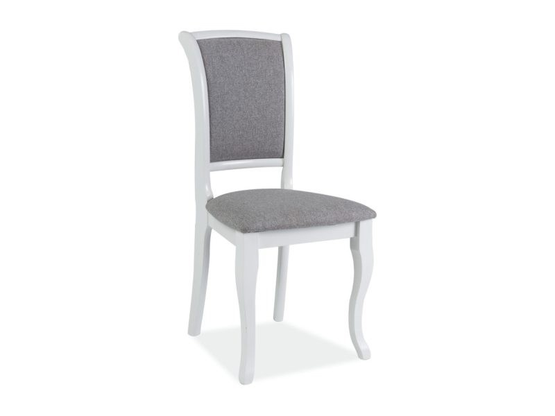 Scaun din lemn masiv alb-gri MN-SC