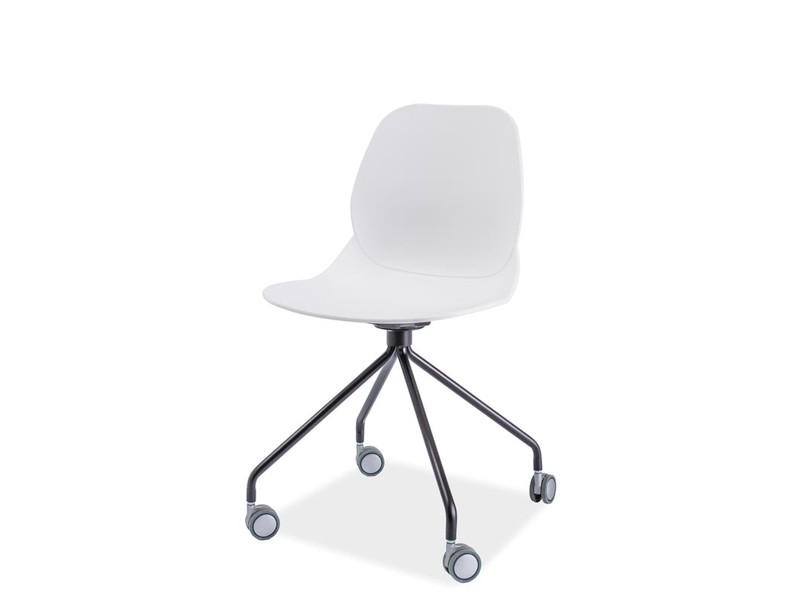 Scaun din plastic Alfio alb