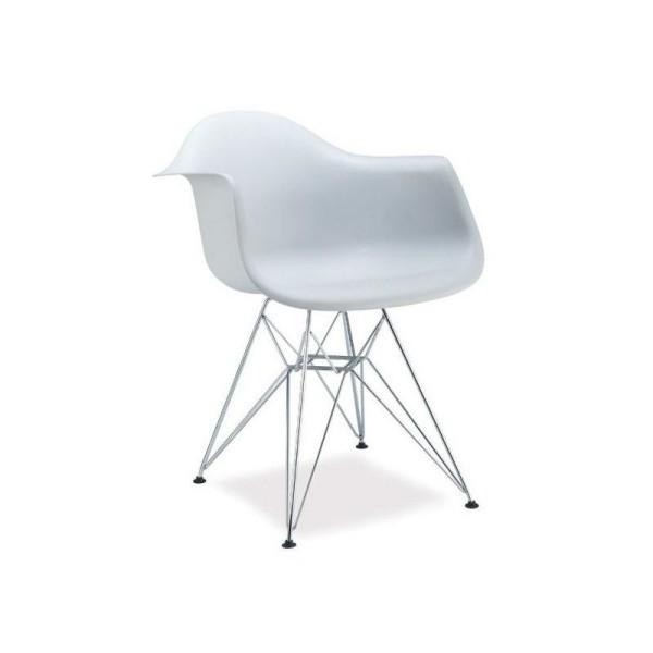 Scaun din plastic Megan alb
