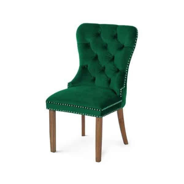 Scaun tapitat Madame natur verde