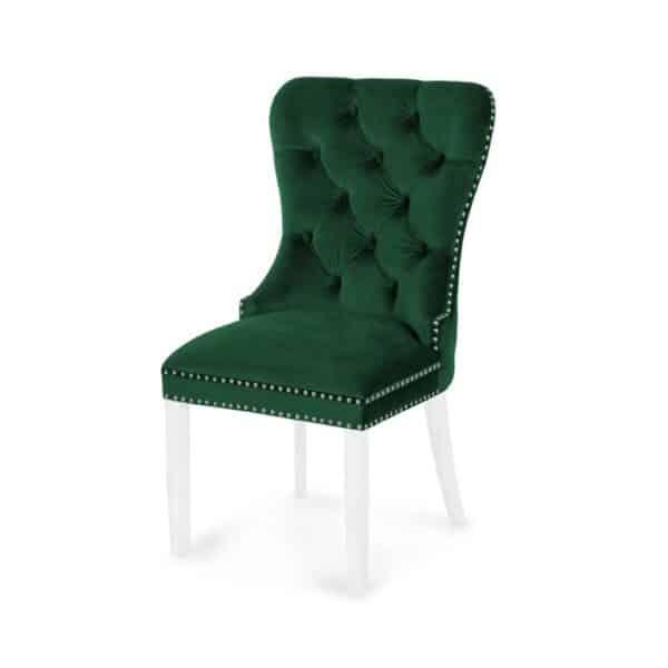 Scaun tapitat Madame verde