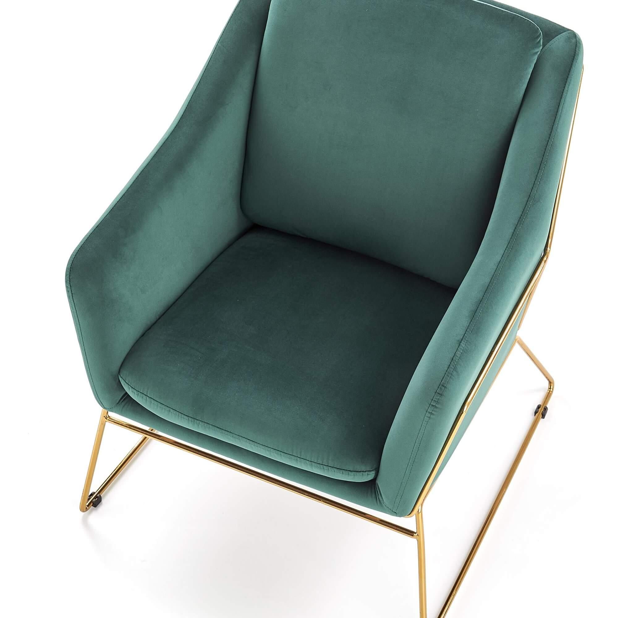 Fotoliu tapitat Soft III verde
