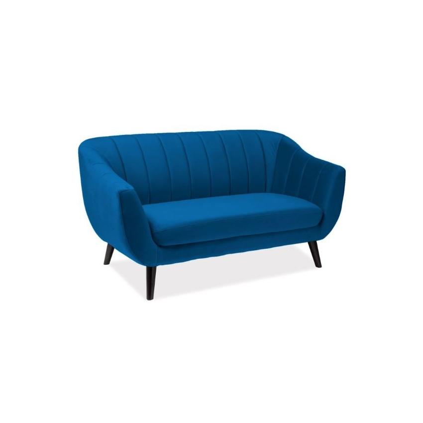 Canapea catifea Elite 2 albastru