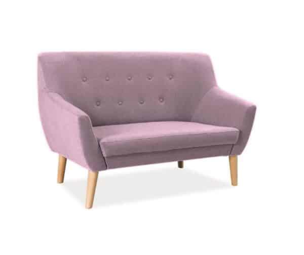Canapea 2 locuri Nordic roz