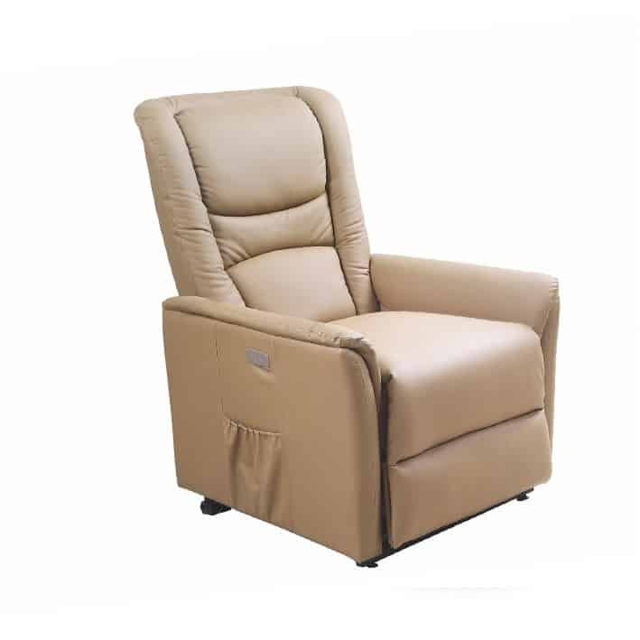 Fotoliu recliner tapitat Senator bej – H 77-105 cm 1