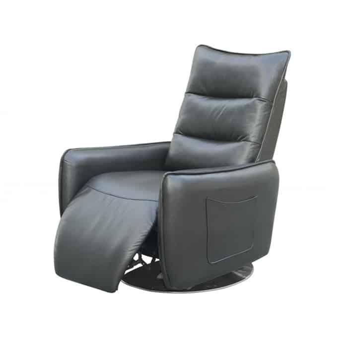 Fotoliu recliner tapitat Royal gri – H 78-104 cm 1