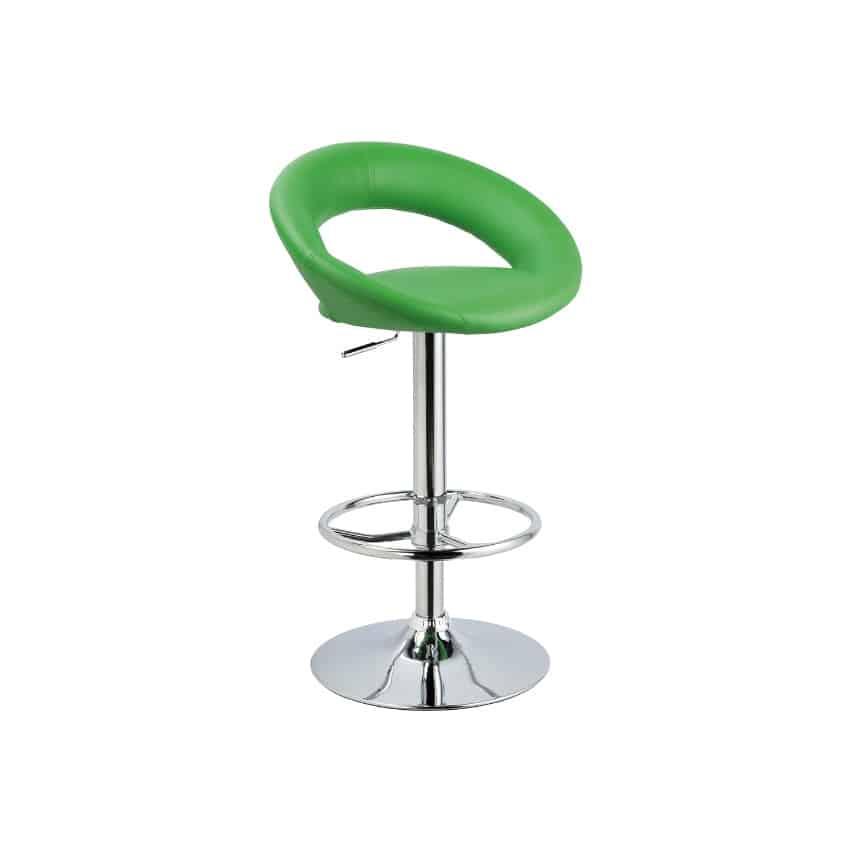 Scaun bar C-300 verde – H 81 cm 1