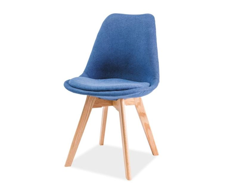 Scaun textil Dior fag albastru