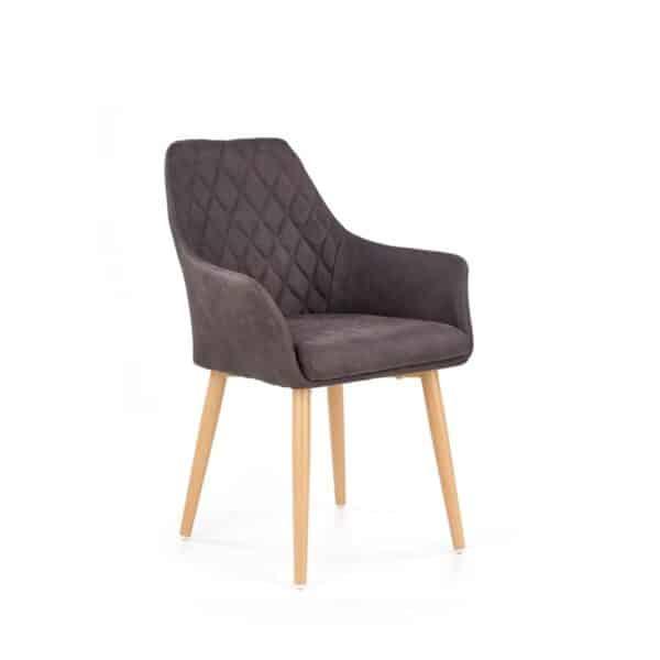 scaun tapitat K287 maro inchis