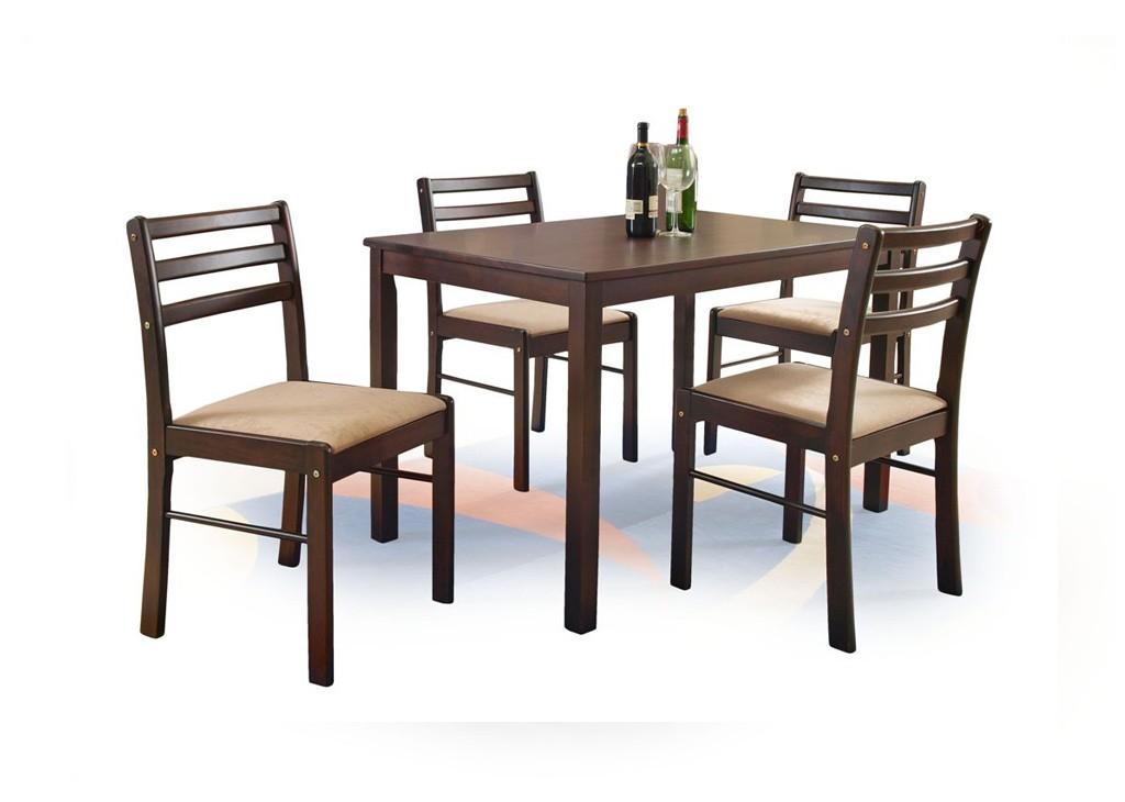 Set masa MDF si lemn masiv 4 scaune New Starter
