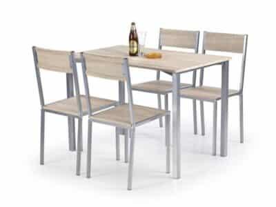 Set masa MDF si otel 4 scaune Ralph