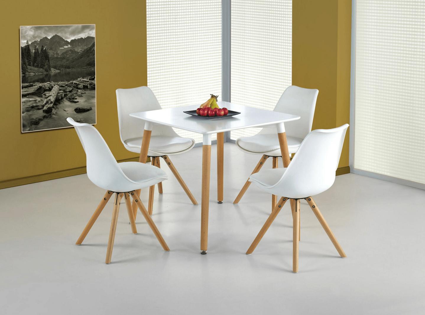 Set masa MDF si lemn Socrates patrat 4 scaune K201