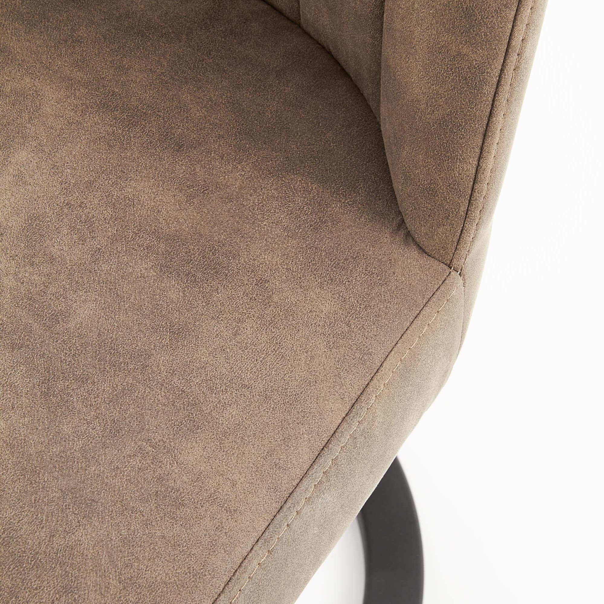 Scaun tapitat piele ecologica K338 - maro