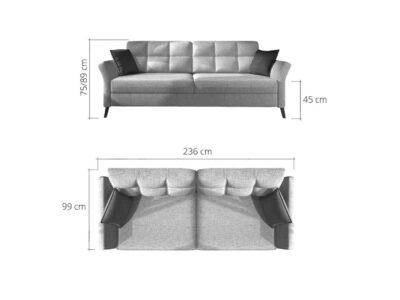 Canapea extensibila cu lada de depozitare Fuego