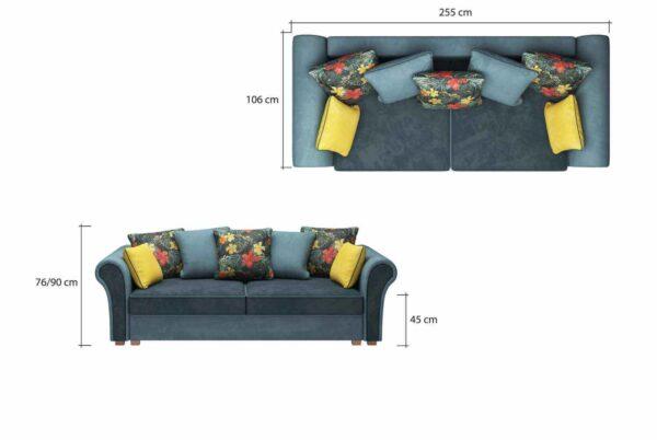 Canapea extensibila cu lada de depozitare Gusto
