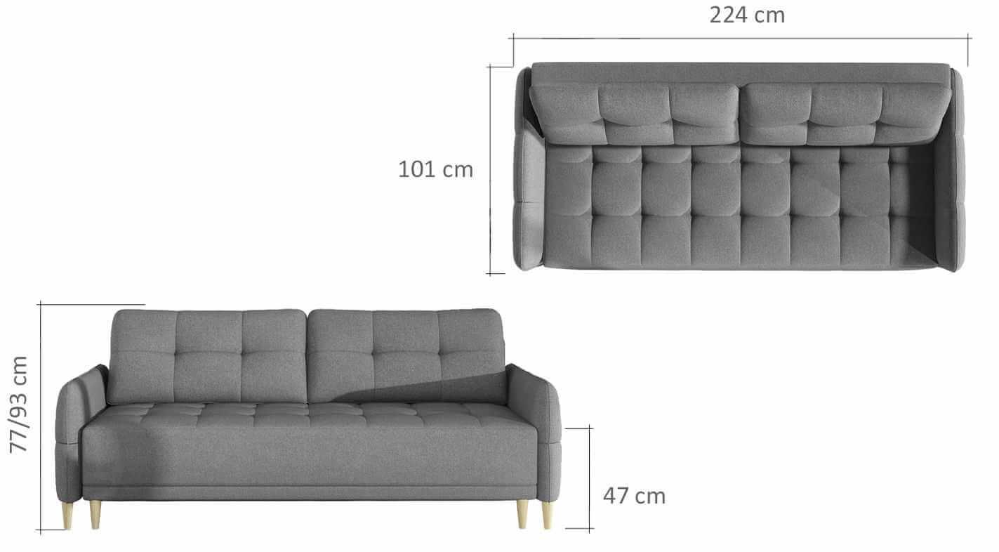 Canapea extensibila cu lada de depozitare Malmo