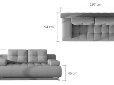 Canapea extensibila cu lada de depozitare Oslo