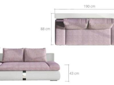 Canapea extensibila cu lada de depozitare Play
