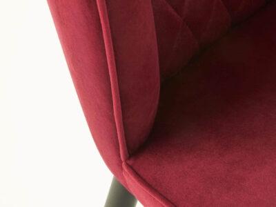 Scaun tapitat catifea K339 Bordo