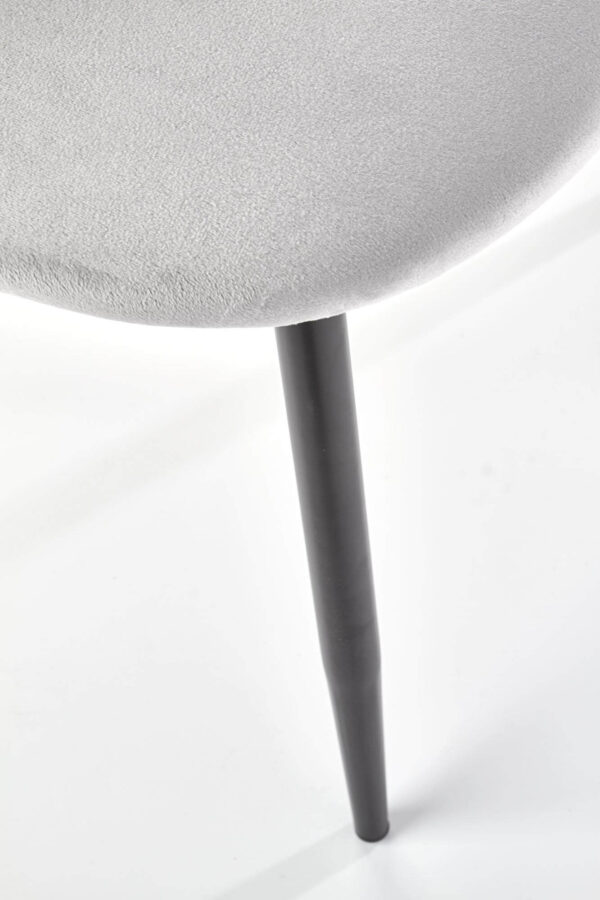 Scaun tapitat catifea K405 Gri deschis