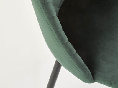 Scaun tapitat catifea K405 Verde