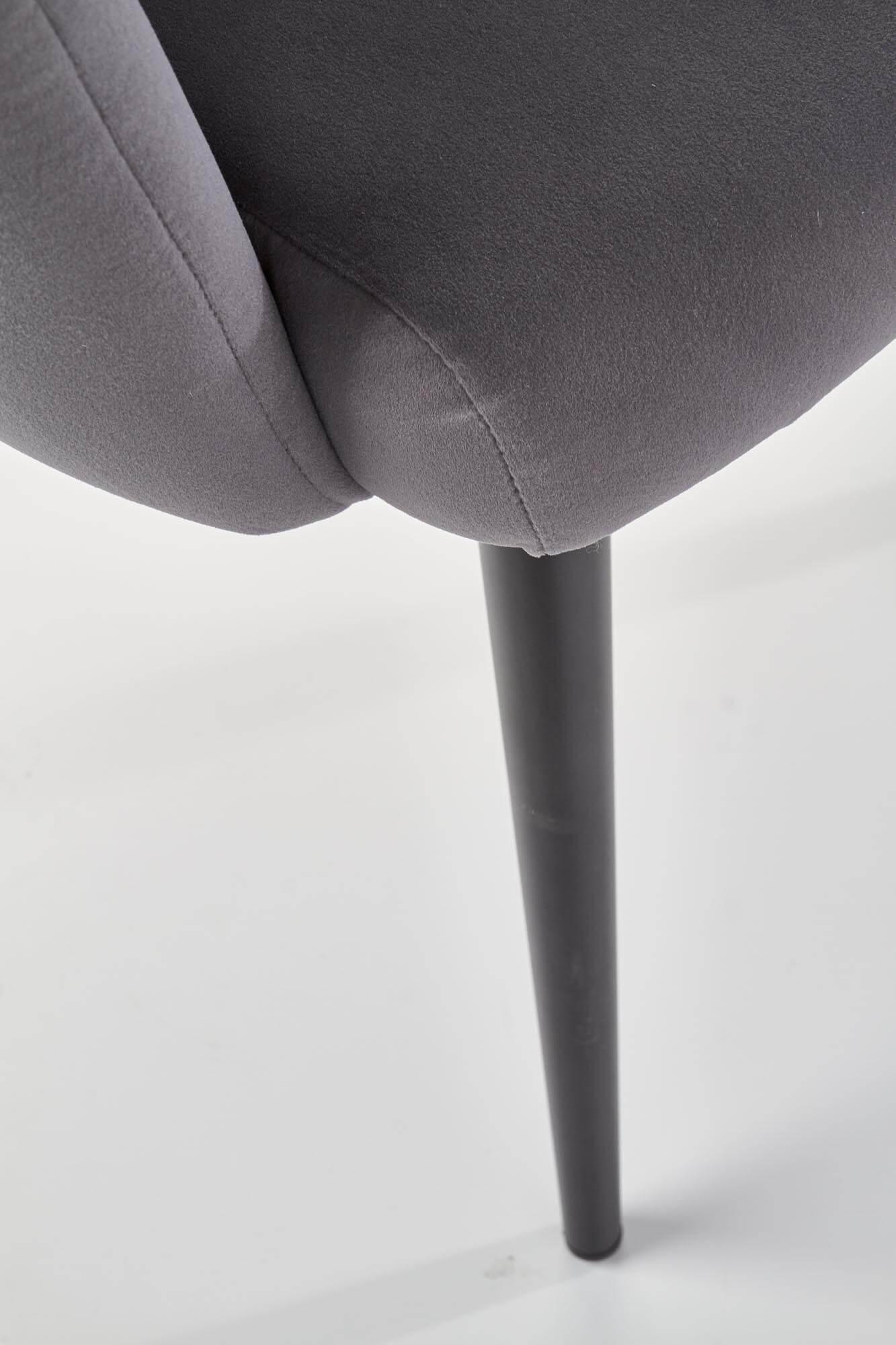 Scaun tapitat catifea K410 Gri