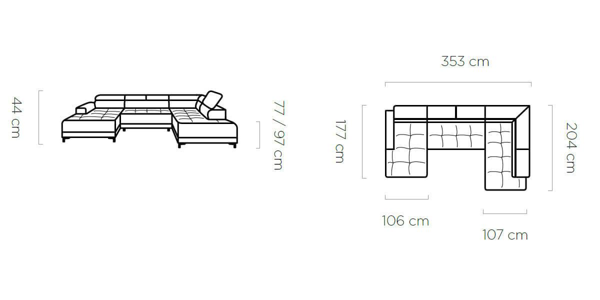 Coltar fix cu reglaj electric Hugo XL