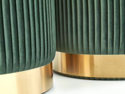 Set tabureti tapitati Monty Verde / Gold