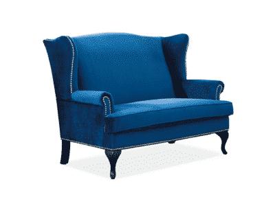 Canapea tapitată Benjamin 2 Velvet Albastru