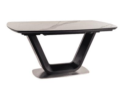 Masa extensibila Armani Ceramic Alb/Negru L160-220 x l90 x h76