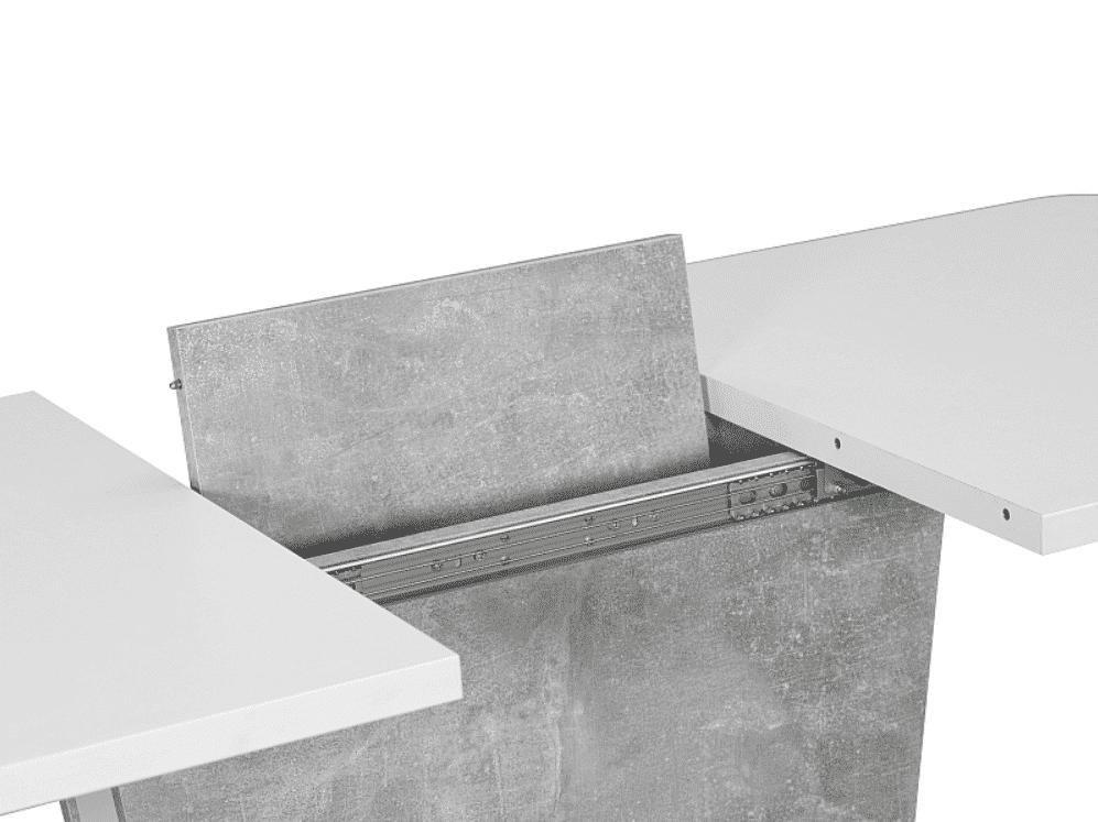 Masa Extensibila Calipso Alb Mat L110-145 x 68l x 76h cm