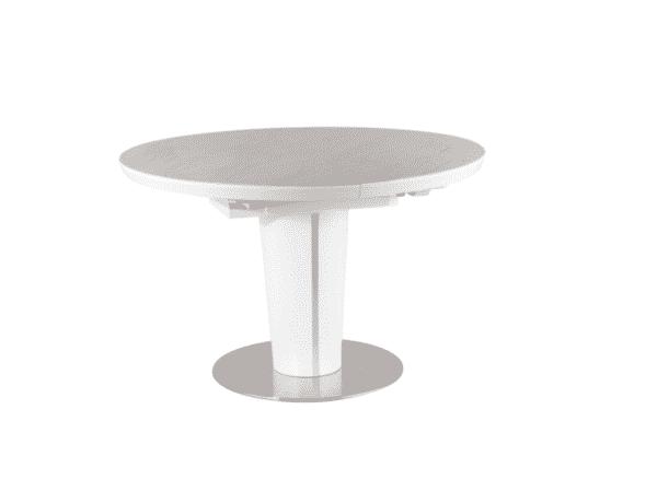 Masa extensibila rotunda Orbit Ceramic Alb Mat D120-160 x H76 cm