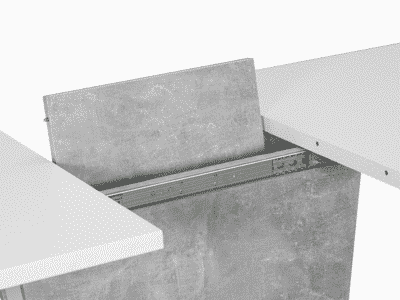 Masa Extensibila Syriusz Alb Mat L120-160 x 80l x 76h cm