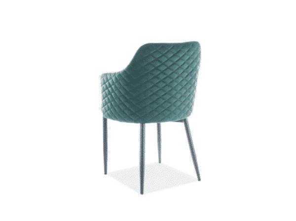 Scaun tapitat Astor Velvet Verde / Negru H84 cm