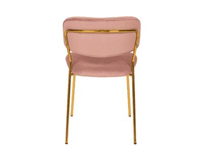 Scaun tapitat Carlo Velvet Roz / Gold H80 cm