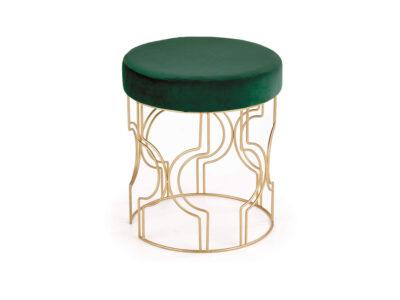 Taburet tapitat Ferrero Velvet Verde / Gold