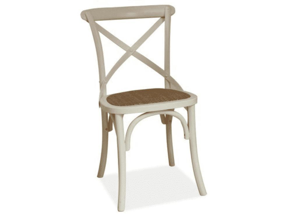 Scaun lemn Lars alb H88 cm