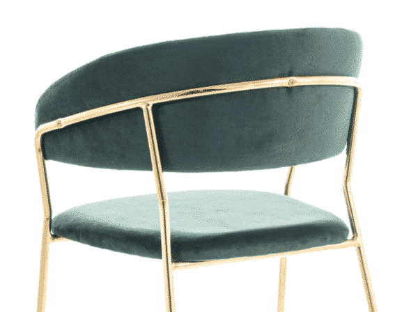Scaun tapitat Lira Velvet Verde / Gold H75 cm