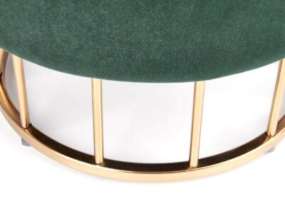 Taburet tapitat Minty Velvet Verde / Gold