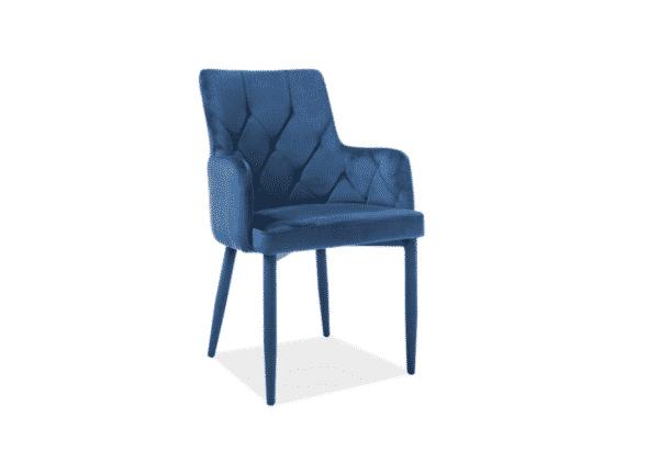 Scaun tapitat Ricardo Velvet Albastru H88 cm