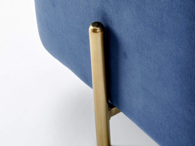 Taburet tapitat Corno Albastru
