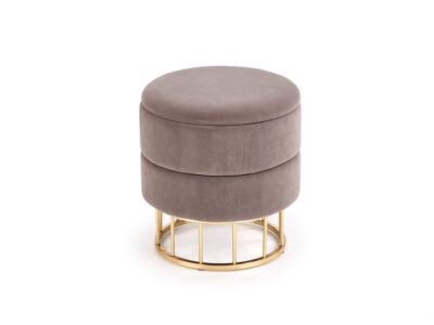 Taburet tapitat Minty Velvet Gri / Gold