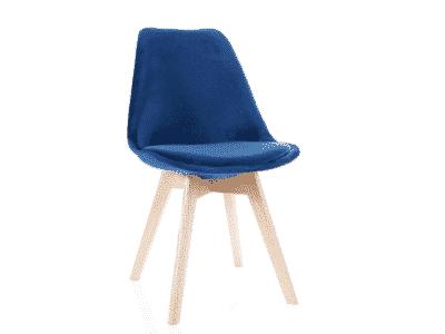 Scaun catifea stejar Dior bleumarin H86 cm
