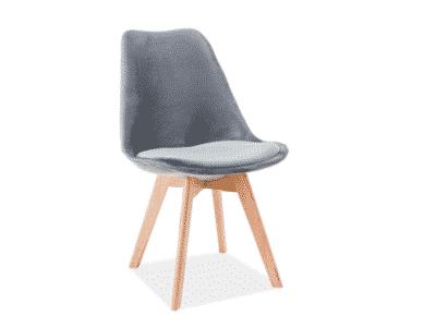 Scaun catifea stejar Dior gri H86 cm