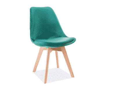 Scaun catifea stejar Dior verde H86 cm