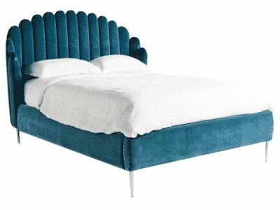 Pat tapitat KADOSA albastru 180×200 cm
