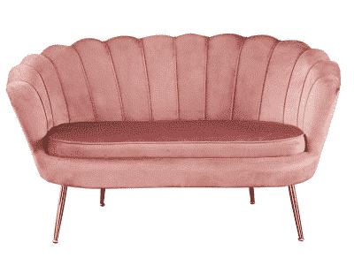 Canapea fixa NOBLIN roz