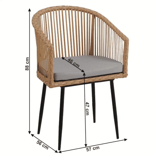 Set masa TABOL + 2 scaune